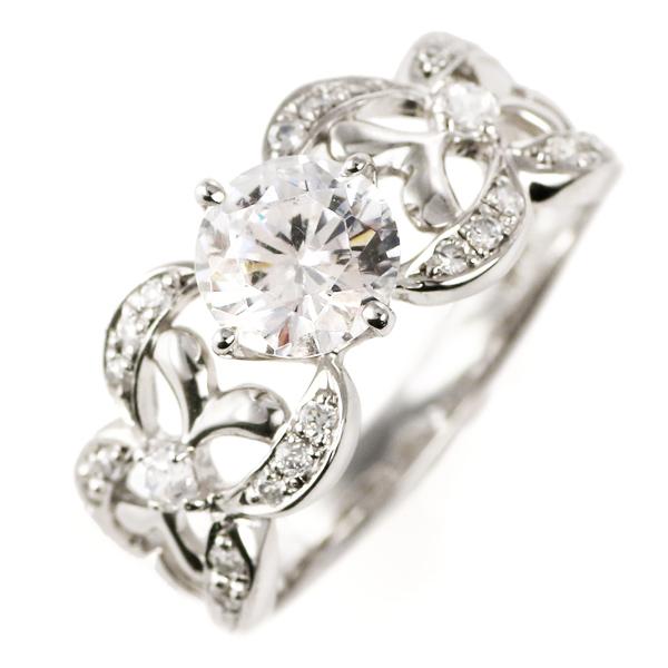 ダイヤモンド 1カラット リング プラチナ ダイヤモンドリング 1ct ソリティア 一粒 大粒 鑑別書付 秋 冬
