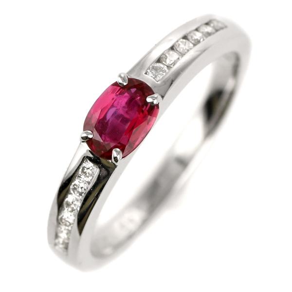 指輪 レディース ルビー ダイヤモンド プラチナ リング