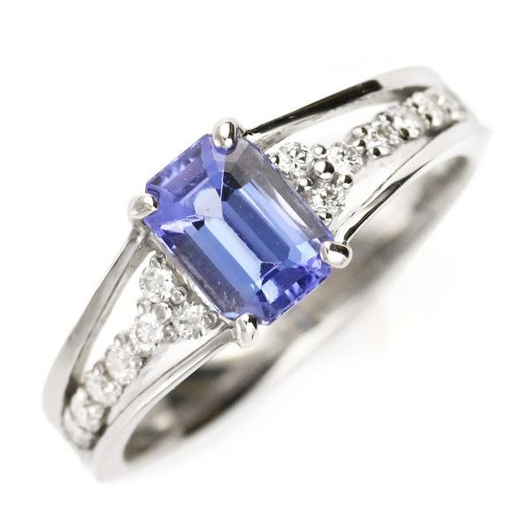指輪 レディース タンザナイト ダイヤモンド プラチナ リング
