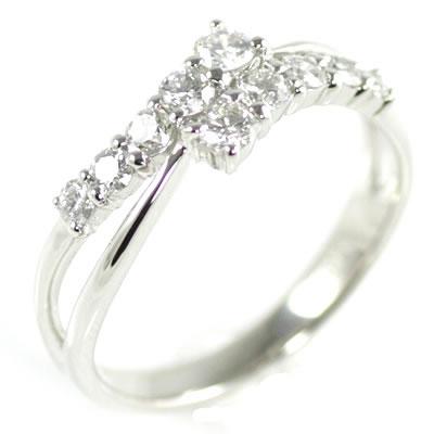 スイート エタニティ ダイヤモンド 10 個 プラチナ ダイヤモンドリング 結婚 10周年記念 【DEAL】