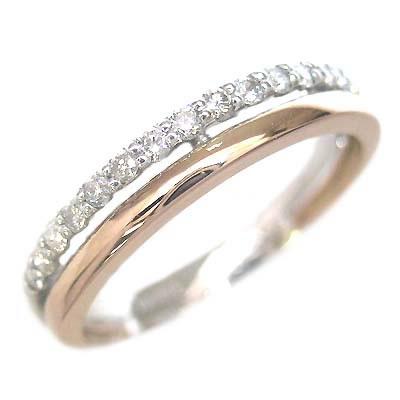 K18ゴールド・ピンクゴールドダイヤモンドリング
