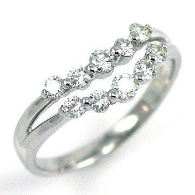 スイート エタニティ ダイヤモンド 10 個 プラチナ ダイヤモンド リング 結婚 10周年記念