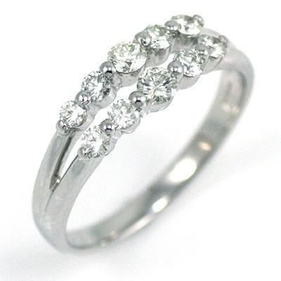 スイート エタニティ ダイヤモンド 10 個 プラチナ ダイヤモンド リング 結婚 10周年記念【DEAL】