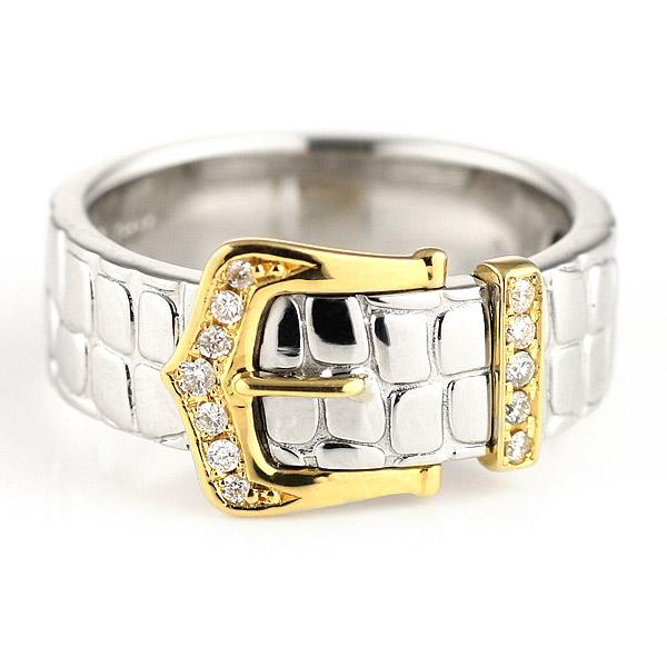 リング メンズ メンズリング メンズ リング 指輪 プラチナ900 K18イエローゴールド ダイヤモンド