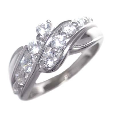 スイート エタニティ ダイヤモンド 10 個 ( 4月誕生石 ) K18ホワイトゴールド ダイヤモンドリング 結婚 10周年記念