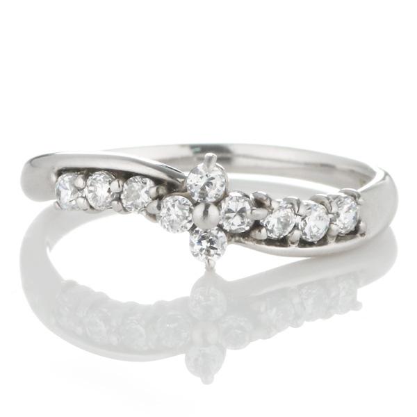 スイート エタニティ ダイヤモンド 10 個 ホワイトゴールド ダイヤモンドリング 結婚 10周年記念 末広 スーパーSALE