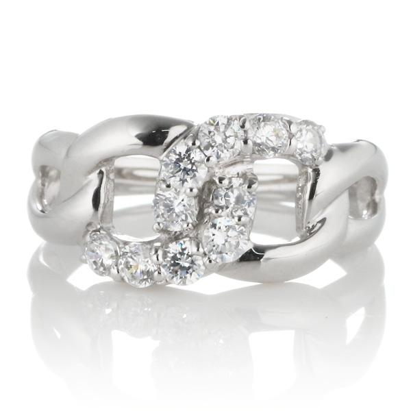 スイート エタニティ ダイヤモンド 10 個 ホワイトゴールド ダイヤモンドリング 結婚 10周年記念