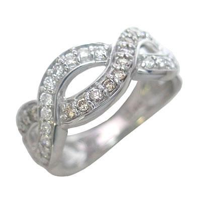 K18ホワイトゴールドダイヤモンドリング 【DEAL】