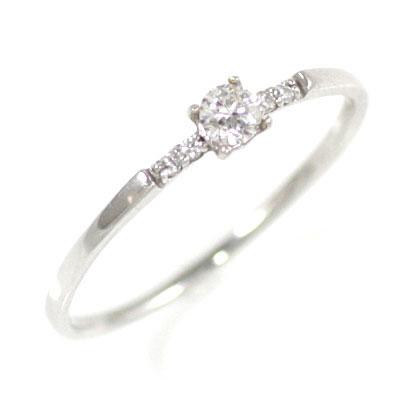 ( 4月誕生石 ) K18ホワイトゴールド ダイヤモンドリング 末広 スーパーSALE