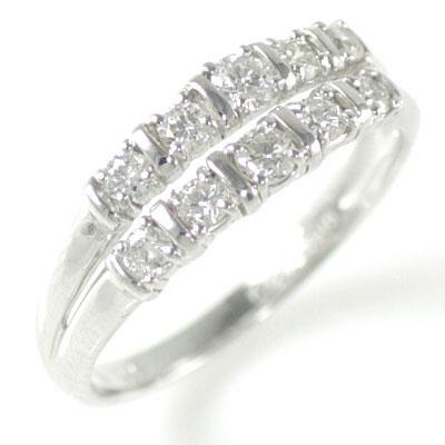 結婚10周年記念 ホワイトゴールド ダイヤモンドリング【DEAL】