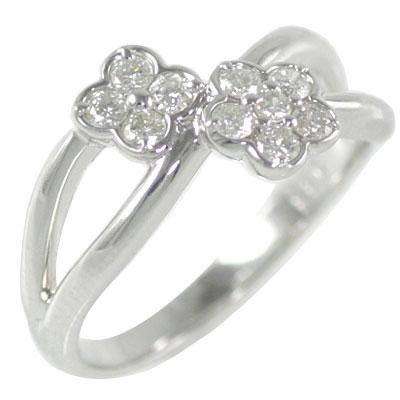 結婚10周年記念 ホワイトゴールド ダイヤモンドリング 【DEAL】