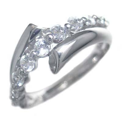 スイート エタニティ ダイヤモンド 10 個 ( 4月誕生石 ) プラチナ ダイヤモンドリング 結婚 10周年記念