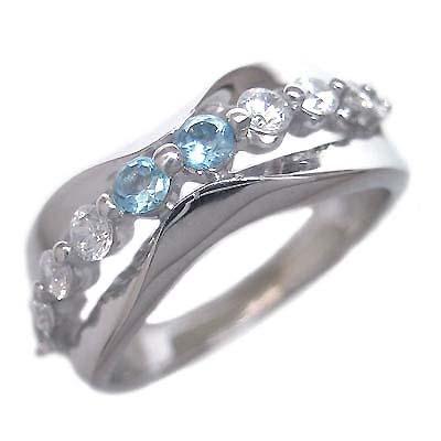 スイート エタニティ ダイヤモンド 10 個 ( 11月誕生石 ) プラチナ ブルートパーズ・ダイヤモンドリング 結婚 10周年記念【DEAL】