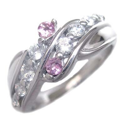 10月誕生石 ダイヤモンド 10月誕生石 プラチナ ピンクトルマリン ダイヤモンド リング