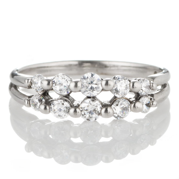スイート エタニティ ダイヤモンド 10 個 プラチナ ダイヤモンドリング 結婚 10周年記念【DEAL】
