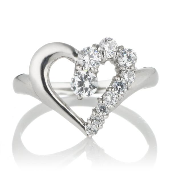 スイート エタニティ ダイヤモンド 10 個 プラチナ ダイヤモンドリング 結婚 10周年記念
