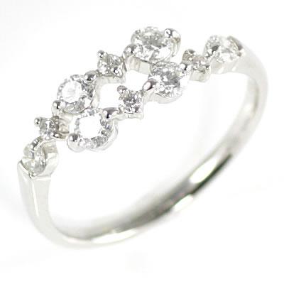 スイート エタニティ ダイヤモンド 10 個 プラチナ ダイヤモンドリング 結婚 10周年記念 結婚 10周年記念