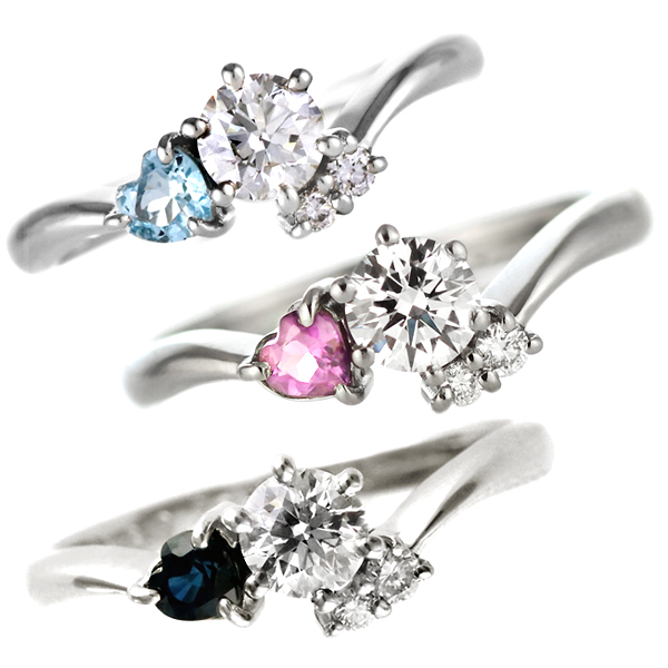婚約指輪(エンゲージリング) プラチナ ダイヤモンドリング(ハートシェイプ) 末広 スーパーSALE