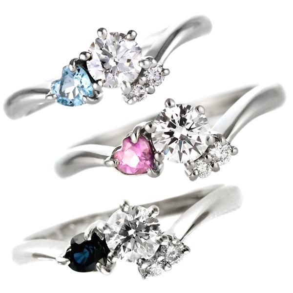 婚約指輪(エンゲージリング) プラチナ ダイヤモンドリング(ハートシェイプ) 末広 スーパーSALE【今だけ代引手数料無料】