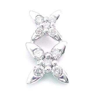 ( K18WG )ダイヤモンドペンダントトップ