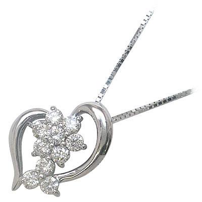 スイート エタニティ ダイヤモンド 10 個 K18ホワイトゴールド ダイヤモンドペンダントネックレス 結婚 10周年記念【DEAL】