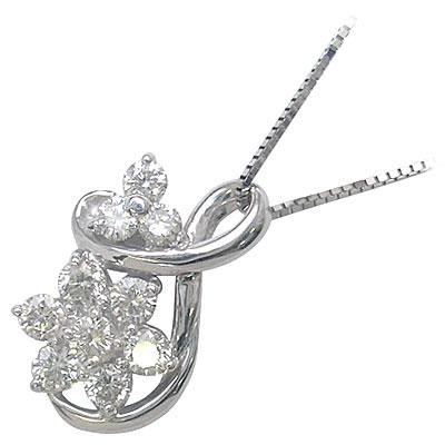 スイート エタニティ ダイヤモンド 10 個 K18ホワイトゴールド ダイヤモンドペンダントネックレス 結婚 10周年記念 末広 スーパーSALE