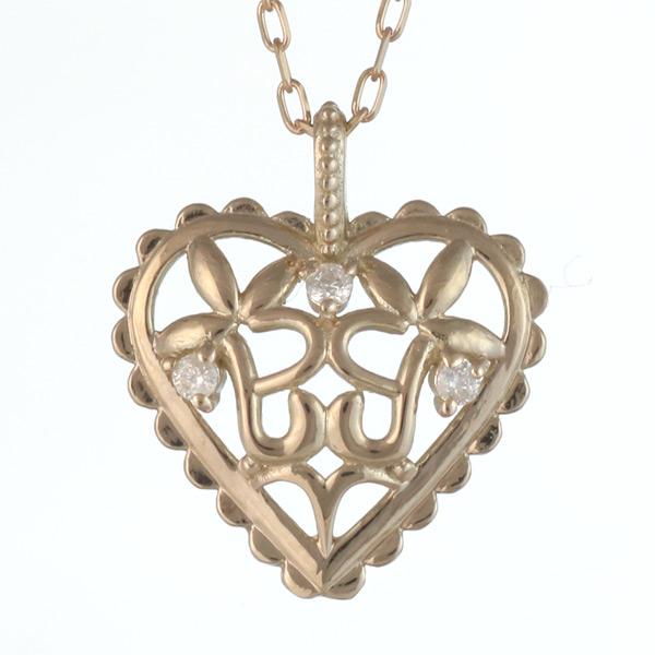 ネックレス ダイヤモンド K10 イエロー ゴールド ネックレス ハート モチーフ ダイヤモンド 0.01ct クリスマス 人気 送料無料
