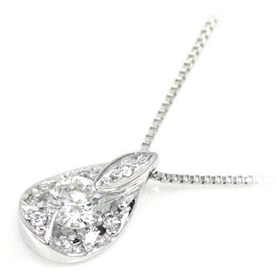 プラチナ ダイヤモンドペンダントネックレス
