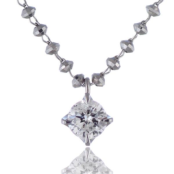 ダイヤモンド ネックレス K18ホワイトゴールド 【送料無料】