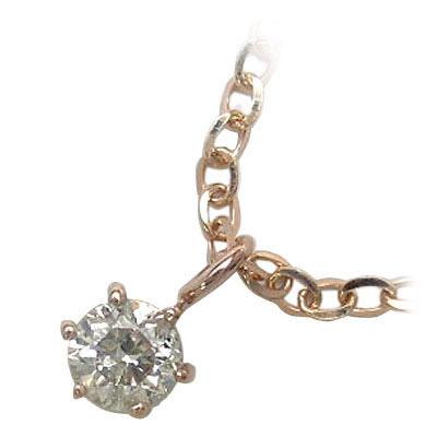 K18ピンクゴールドダイヤモンドペンダントネックレス【DEAL】