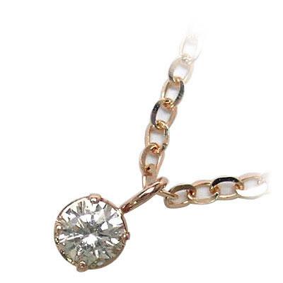 K18ピンクゴールドダイヤモンドペンダンネックレス【DEAL】
