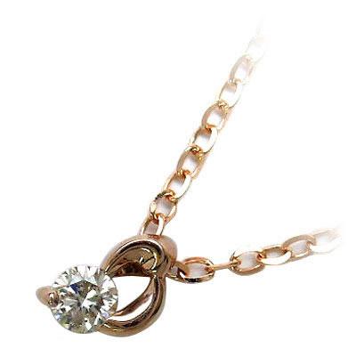 K18ピンクゴールドダイヤモンドペンダンネックレス【DEAL】 末広 スーパーSALE
