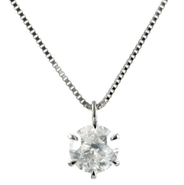 ネックレス 一粒 ダイヤモンド ネックレス プラチナ ダイヤモンドネックレス ダイヤモンド ダイヤ 1カラット