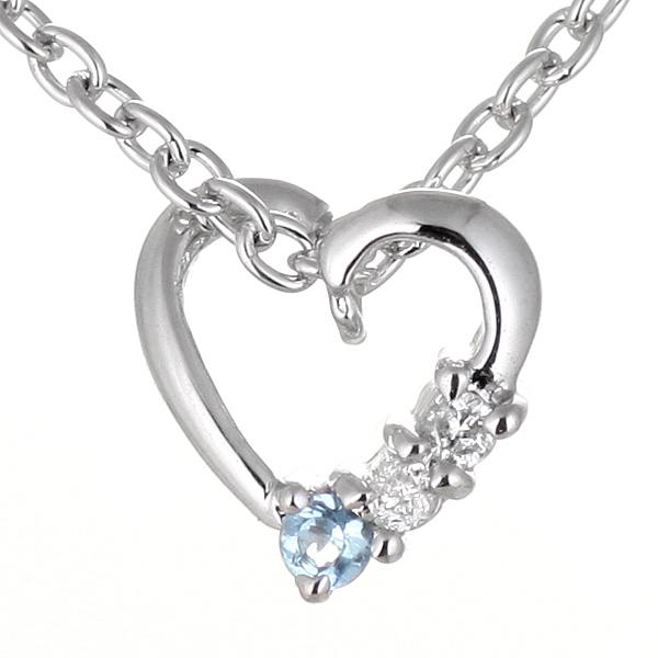 ブルートパーズ ネックレス ブルートパーズ 11月誕生石 ダイヤモンド ブルートパーズ ネックレス ハート 【DEAL】