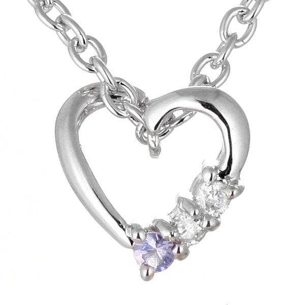 タンザナイト ネックレス タンザナイト 12月誕生石 ダイヤモンド タンザナイト ネックレス ハート 【DEAL】