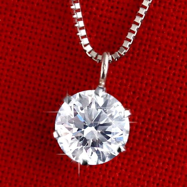 ダイヤモンド ネックレス 0.38カラット ホワイトゴール シンプル ダイヤモンドネックレス 一粒 人気 DIAMOND NECKLACE
