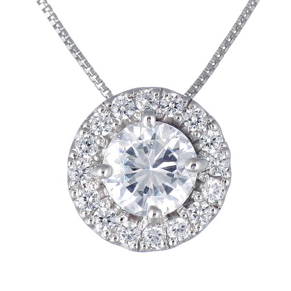 ダイヤモンド ネックレス プラチナ 一点物 ダイヤモンドネックレス 1.004カラット F SI ソリティア 一粒 大粒 鑑定書付