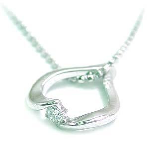 ( 4月誕生石 ) K18WG ダイヤモンドネックレス(ハートモチーフ) 末広 スーパーSALE【今だけ代引手数料無料】