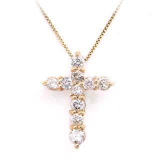 クロス K18ダイヤモンドペンダントネックレス【DEAL】