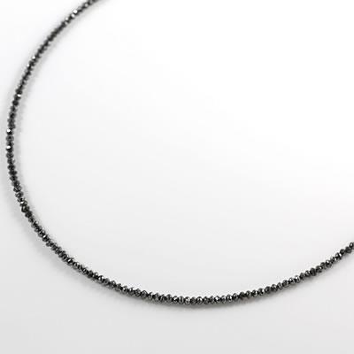 ネックレス メンズ 注目度アップ! ブラックダイヤモンドネックレス 末広 スーパーSALE
