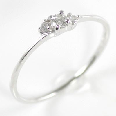 ( Brand Jewelry me. ) K10ホワイトゴールドダイヤモンドリング