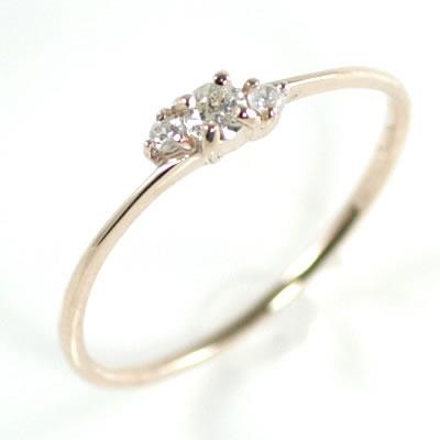 ( Brand Jewelry me. ) K10ピンクゴールドダイヤモンドリング 末広 スーパーSALE