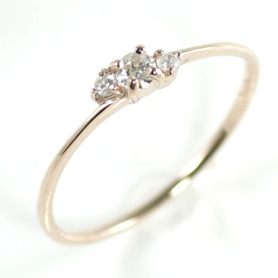 ( Brand Jewelry me. ) K10ピンクゴールドダイヤモンドリング