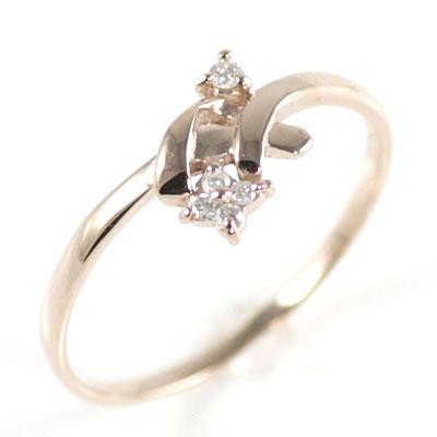 ( 4月誕生石 ) K10ピンクゴールドダイヤモンドリング【DEAL】