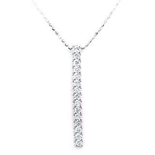 ( K18WG )ダイヤモンドペンダントネックレス【DEAL】