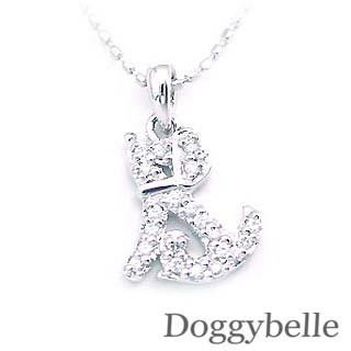 ( K18WG )ダイヤモンドペンダントネックレス 犬 【DEAL】