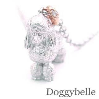 ( 4月誕生石 ) プラチナ K10ダイヤモンドネックレス(プードル) 犬 末広 スーパーSALE