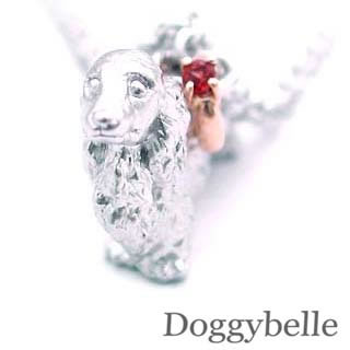 ( 1月誕生石 ) SV K10ガーネットネックレス(ダックスフンド) 犬