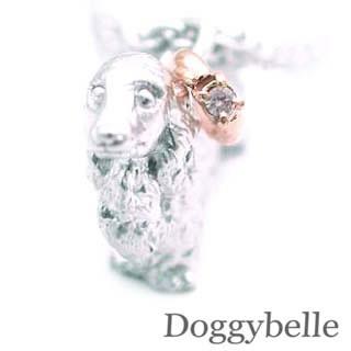 ( 4月誕生石 ) プラチナ K10ダイヤモンドネックレス(ダックスフンド) 犬