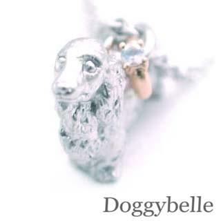 ( 6月誕生石 ) プラチナ K10ムーンストーンネックレス(ダックスフンド) 犬